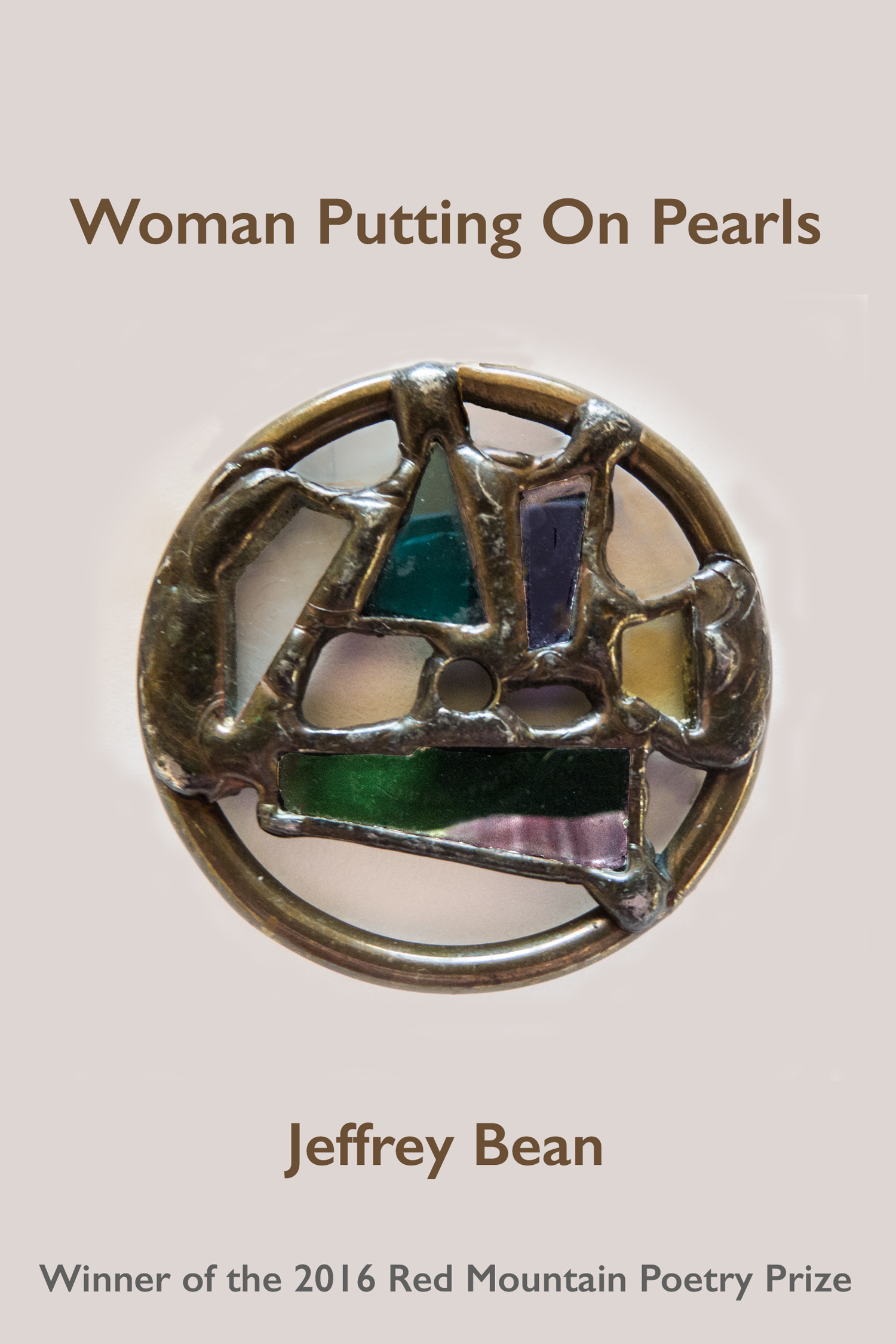 Woman Putting on Pearls Jeffery Bean